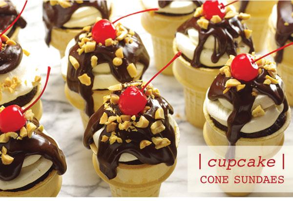 Cupcake Cone Sundaes